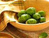 photo of a bowel of cooked Brussels sprouts on the antioxidant list