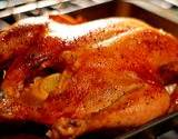 a photo of a whole roasted chicken a natural souce of carnitine