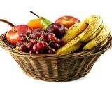 a photo of fresh fruit in a basket a natural source of folic acid
