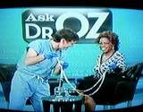 photo of Dr. Oz and Opra looking at a tapeworm and discussing parasite cleanse