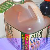 photo of a gallon of aloe juice