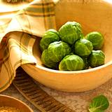 a bowl of cooked Brussel sprouts good source of digestive enzymes