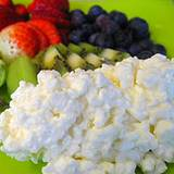 photo of a plate of cottage cheese has natural benefits of Vitamin D