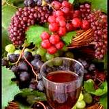 photo of grapes and a glass of wine natural source of vitamin P or bioflavonoids