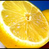 photo of a lemon half a good natural food source of Vitamin P or bioflavonoids