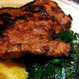 a photo of cooked liver and spinach a natural source of PABA
