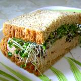 a photo of a sprout sandwich a natural source of aspartic acid
